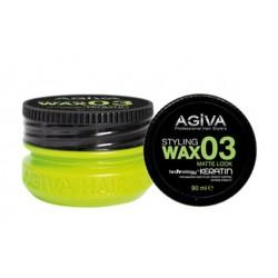 Agiva Hair Styling Wax 03 Mat Look Green (90ml)