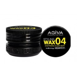 Agiva Hair Styling Wax 04 Extra Strong Black (90ml)