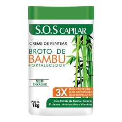 Hidran Broto de Bambú Fortalecedor Crema de Peinar (1Kg)