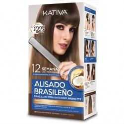 Kativa Kit Alisado Brasileño Natural Cabellos Oscuros