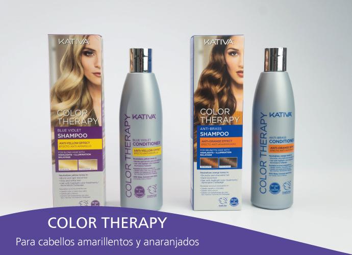 Kativa Color Therapy. Para cabellos canosos, grises y rubios platinos