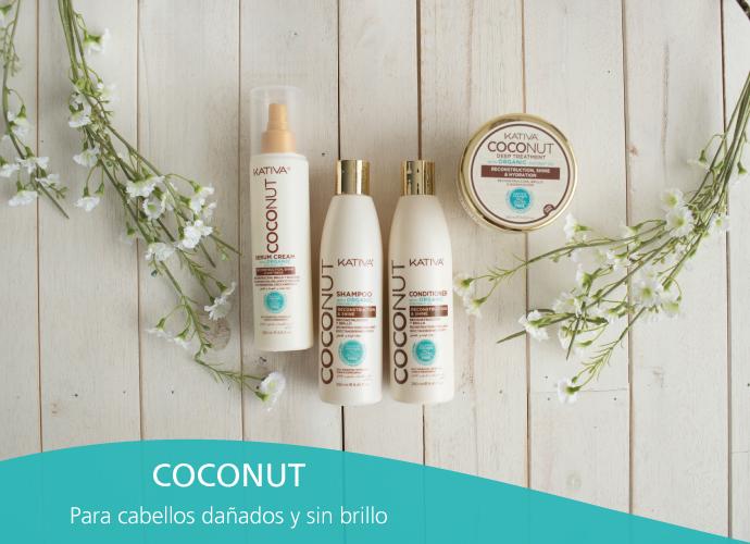 Kativa Coconut. Para cabellos dañados y sin brillo