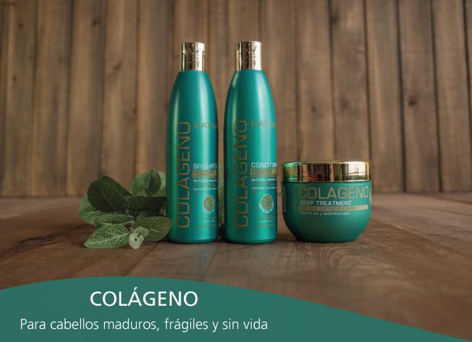 Kativa Colageno. Para cabellos  maduros  desvitalizados, sin cuerpo y frágiles