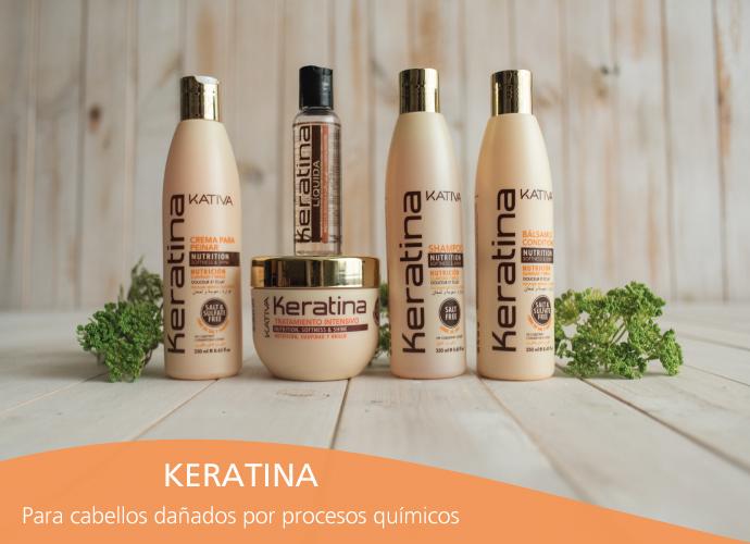 Kativa Keratina. Para cabello dañado por procesos químicos y mecánicos