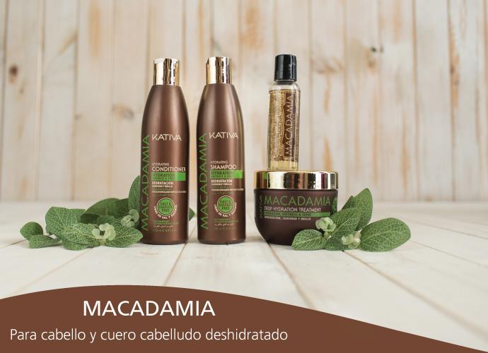 Kativa Macadamia. Para cabellos y cuero cabelludo deshidratados