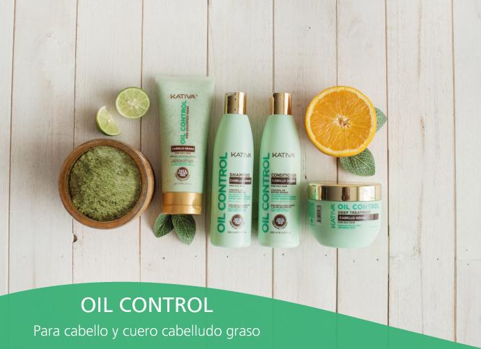 Kativa Oil Control. Para cabellos y cuero cabelludo grasos