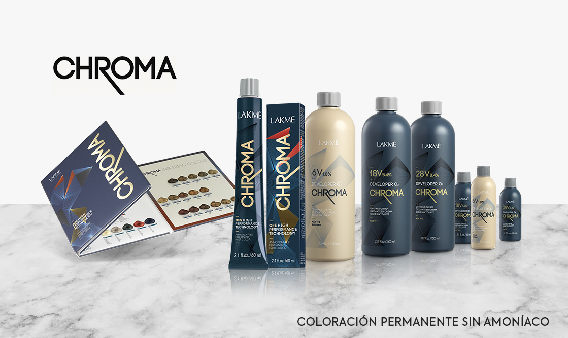 Lakme Chroma. Coloración permanente sin amoníaco